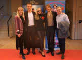 AFA Monaco Press Photo Call with Mads & Chris Ostergaard Holm, actress Maja Simonson, actor Kristian Herlev