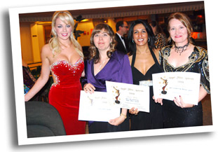 Miss Great Britain 2008  Gemma Garrett in tie with multiple award winning Team of CHASOMOGAMY